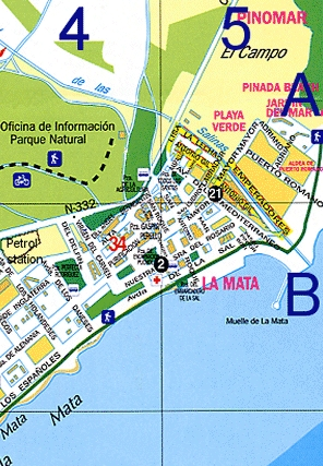 Maps for La Mata - Costa Blanca Property Rentals, for Holiday apartment on the Costa Blanca on the sunny Costa Blanca, in Spain